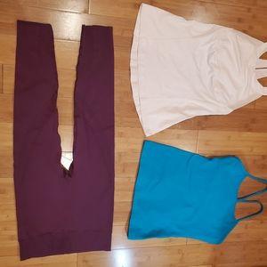 Lululemon tops size 8 and leggings no brand